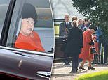 The Queen is joined by Princess Anne for church service - after cancelling appearance over cold