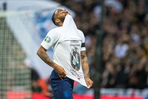 Raheem Sterling pays tribute to Crystal Palace fan Damary Dawkins during England rout