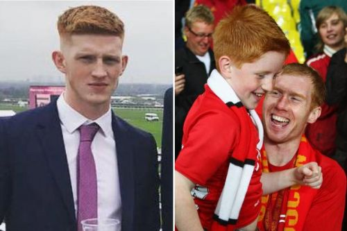 Paul Scholes' teen son 'laughed hysterically as he beat up man in pub' court told