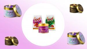 Parma Violet and Aero chocolate candles now exist and we're intrigued