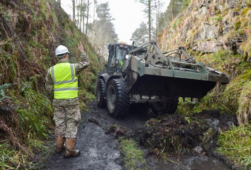 Royal Engineers improve forest paths for Moray community