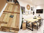 Thrifty homeowner who wanted £2,000 dining table creates her own for FREE