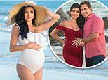 Botched star Paul Nassif's pregnant wife Brittany looks radiant in an elegant white swimsuit