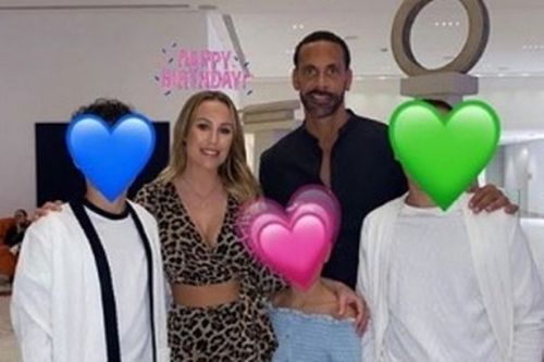Kate Ferdinand sobs as Rio Ferdinand's son gives her beautiful birthday tribute