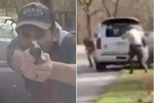 Shocking dashcam footage shows suspect open fire on officer from point blank range