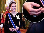 Kate Middleton debuted a dazzling diamond ring at the Diplomatic Reception at Buckingham Palace