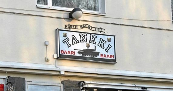 'Military' pub criticised by Auschwitz Memorial for 'Arbeit Macht Frei' sign