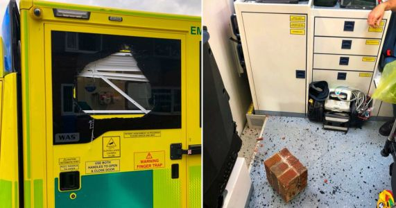 Two paramedics in hospital after three ambulances attacked on same night