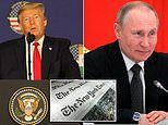 Trump's campaign SUES NYT for 'libel' over columnist's claim of a 'real Trump-Russia quid pro quo'