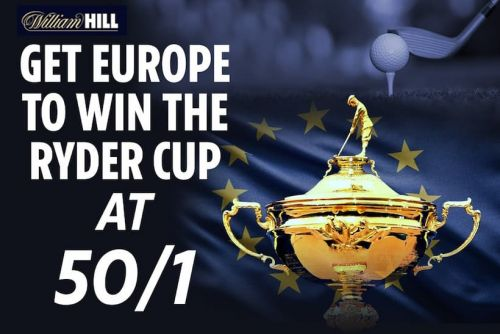 2021 Ryder Cup Betting Tips - Get Enhanced Odds of 50/1 on a European win at William Hill