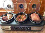 Mum wows with her genius THREE WAY slow cooker that allows her to meal prep multiple dinners at once