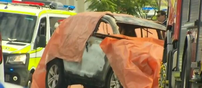 'Several' children burned to death as car is 'set on fire deliberately' outside a house in Queensland
