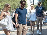 Roxy Horner dons a tiny mini dress as she strolls hand in hand with beau Jack Whitehall in London