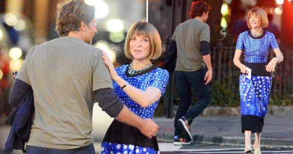 Bradley Cooper and Anna Wintour are loving life as they hug after dinner amid his split from Irina Shayk