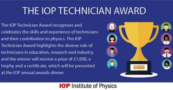 IOP awards for Technicians, Apprentices and Employers of Apprentices