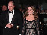 Kate Middleton dons slinky Alexander McQueen gown as she joins William at Royal Variety Performance