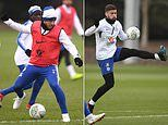 Chelsea get down to work in training without Gonzalo Higuain ahead of London derby against Tottenham