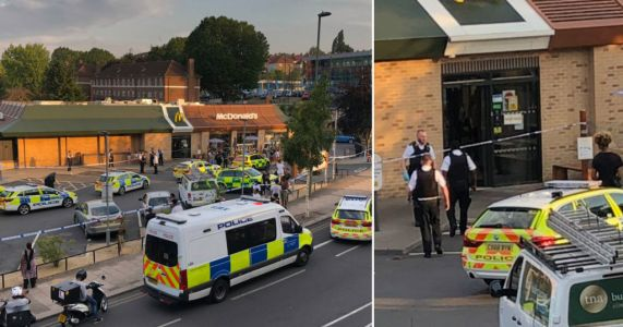 Man 'stumbles into McDonald's to seek refuge' after being stabbed