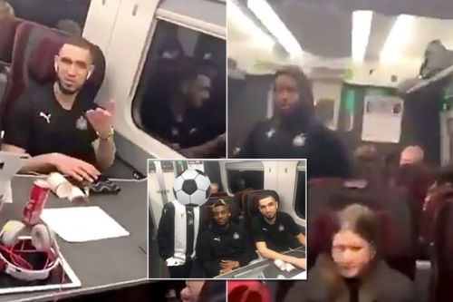 Newcastle United quartet involved in ugly spat with fan on train after Arsenal hammering