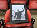 Leyton Orient put photo of Justin Edinburgh in dugout as fans leave shirts and scarves at ground