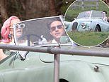 Anne-Marie and Niall Horan cruise along in a classic car while filming their music video in Essex