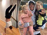 CricketerDavid Warner thrills his young family with his impressive handstand skills