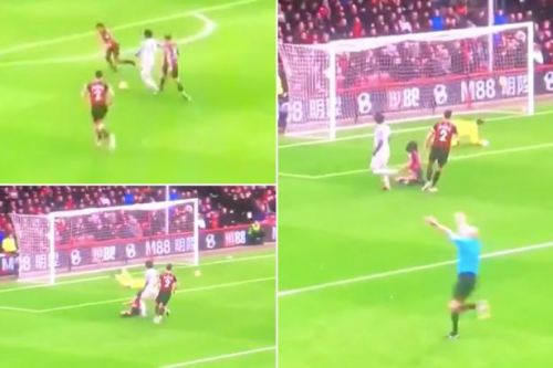 Ref Lee Mason's reaction to a Mohamed Salah goal at Bournemouth spotted by fans