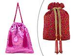 Life's little luxuries: FEMAIL picks out this season's most stylish drawstring bags