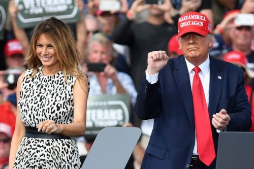 Trump says a benefit of Melania getting Covid-19 is it proves they live together