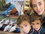 Bec Judd treats her twin boys Tom and Darcy to a luxury glamping getaway
