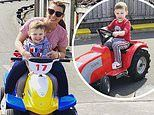 Coleen Rooney enjoys some quality time with her son Cass