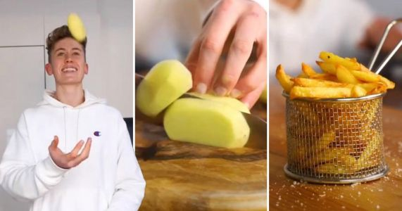 Chef shares how to make four-ingredient home-made chips that are 'tastier than McDonald's'