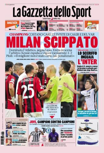Today's Papers - Milan robbed, Inter don't do enough