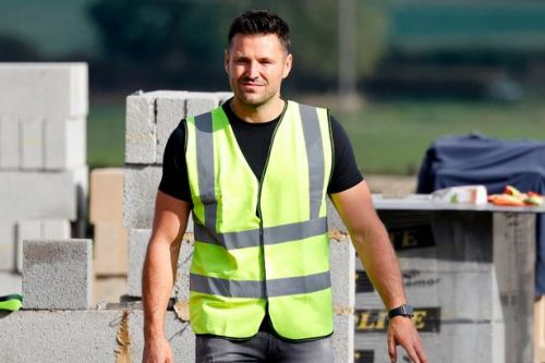 Mark Wright visits site where he's building £1.3m home with Michelle Keegan