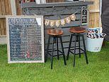 Dad makes swanky outdoor bar for just £30 using an old crate and B&Q paint