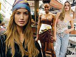 Sports Illustrated beauties self-style with silk scarves at elegant Deseda brunch in New York City