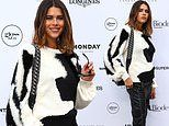 Pregnant Georgia Fowler looks effortlessly chic at star-studded AJE fashion show in Sydney