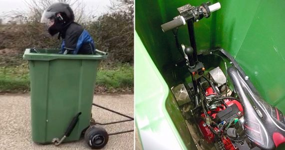 Could this be the fastest wheelie bin in the world?