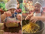 THREE-YEAR-OLD chef earns TikTok fame for his cooking skills