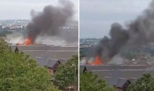 Walthamstow fire video: Huge plume of dark smoke billows - shopping mall goes up in flames