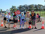 Year 12 students at Mackillop Catholic College use their Muck Up Day to raise money for sick kids