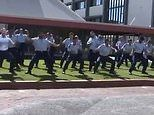New Zealand police perform haka to honour Sergeant Matt Ratana