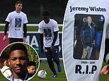 Manchester City Under 18s pay tribute to former team-mate Jeremy Wisten with RIP warm up tops