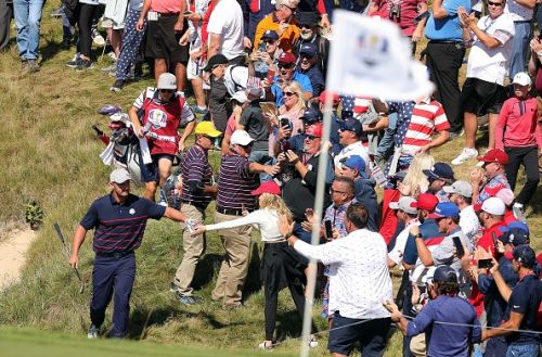 Bryson DeChambeau hits spectator with his first drive at Ryder Cup 2021
