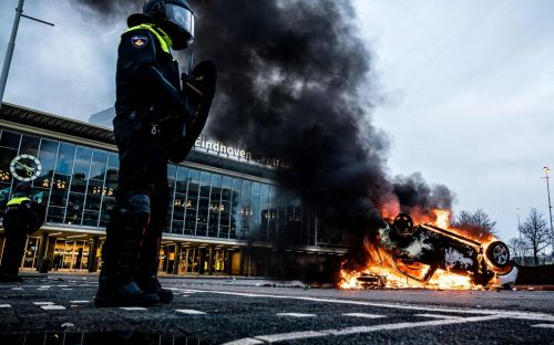 Anti-curfew protesters clash with police, loot cities across the Netherlands