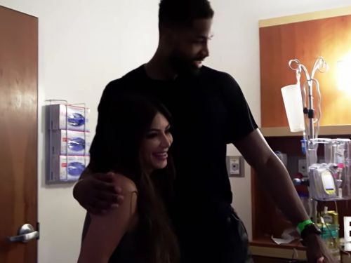 Watch Kim Kardashian react to seeing Tristan Thompson in Khloe's delivery room after his reported cheating scandal