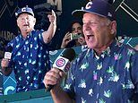 Bill Murray celebrates Cubs' full capacity seating at Wrigley Field by sining 7th inning tradition