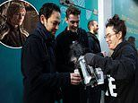 Game Of Thrones star Lena Headey serves coffee to shoppers waiting in line for Choose Love pop-up