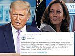 Donald Trump retweets insults calling Kamala Harris 'camel laugh'