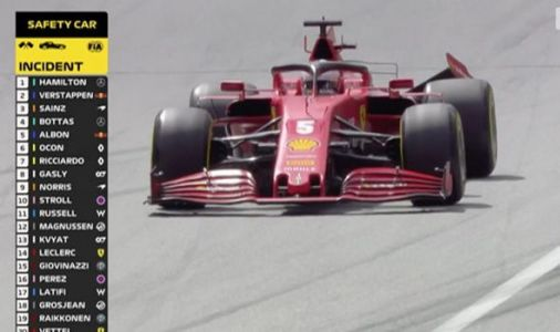 Ferrari chaos in opening lap of Styrian Grand Prix as Vettel and Leclerc crash and retire